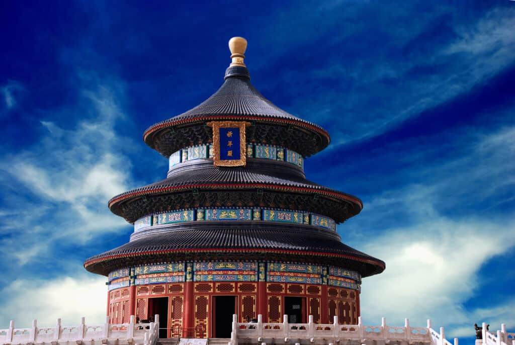 himlens tempel i tiantan parken i beijing kina