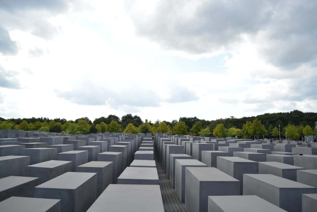 holocaust monumentet i berlin tyskland