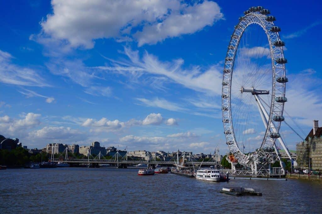 london eye pariserhjul ved themsen
