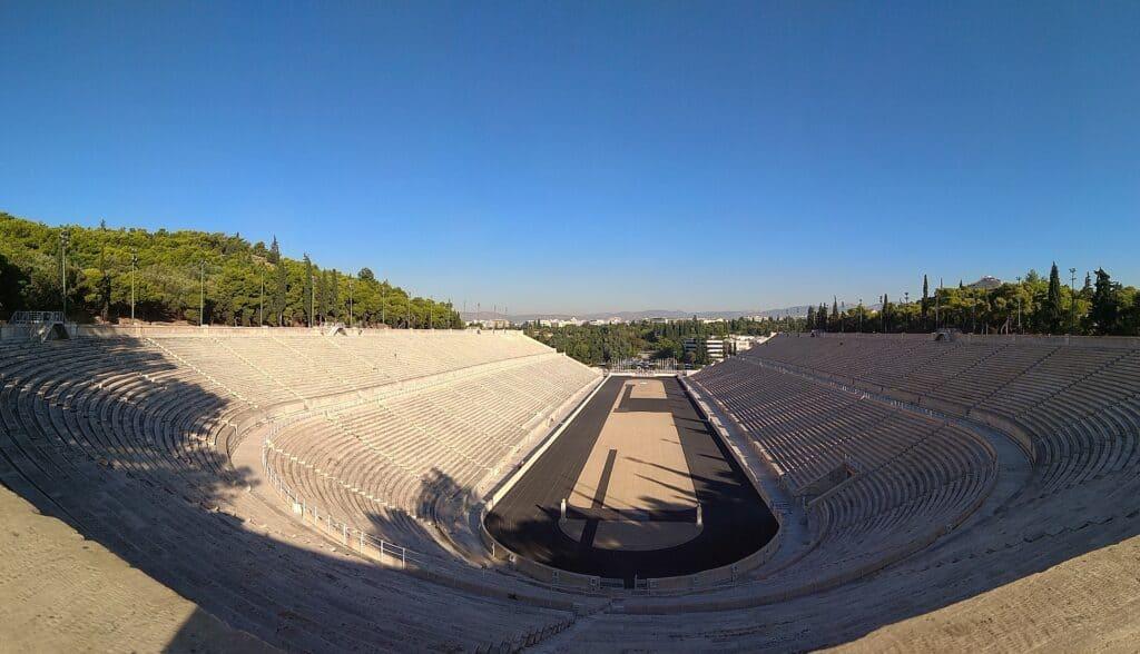 panathinaiko stadion ved athen i grækenland en flot attraktion