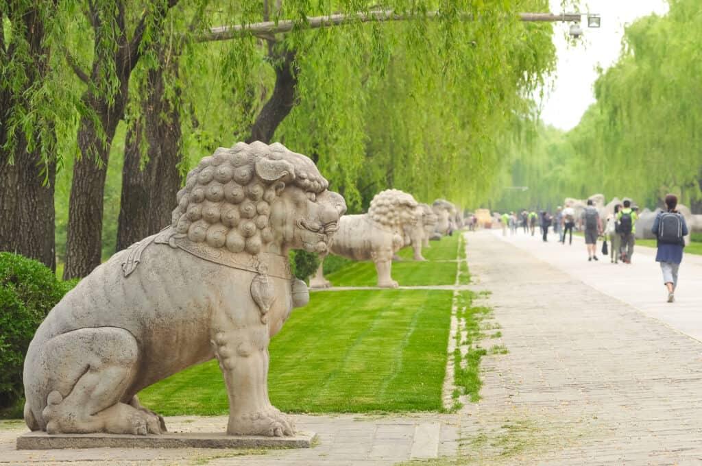 vejen til ming dynastiets grave miggravene i beijing kina